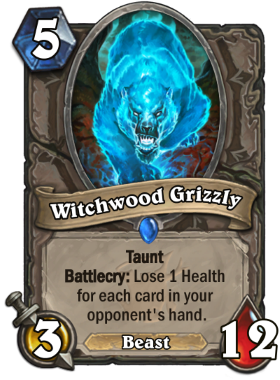 Hearthstone The Witchwood Witchwood Grizzly