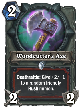 Hearthstone The Witchwood Woodcutter's Axe