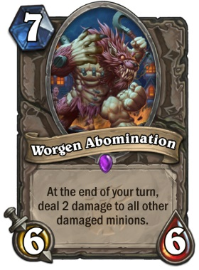Hearthstone The Witchwood Worgen Abomination
