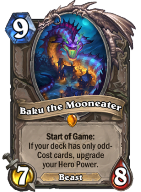 Hearthstone The Witchwood Baku the Mooneater