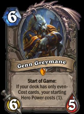 Hearthstone The Witchwood Genn Greymane