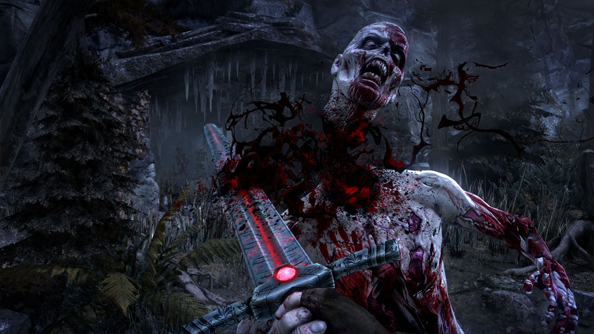 Hellraid screens show heads popping off, lively undead, and an angry minotaur