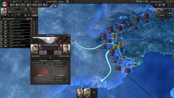 Italian and French armies skirmish along the Alpine border.