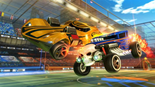 Rocket League teams up with Hot Wheels to introduce the cars of your childhood into the smash-hit auto-soccer game.