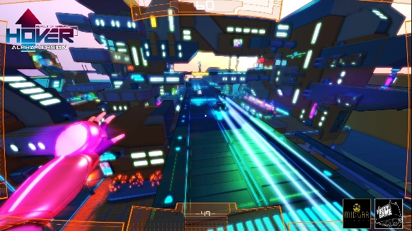 Hover: Revolt of Gamer kicks a bucket of neon over Mirror's Edge