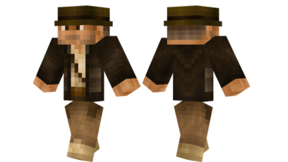 best minecraft skins Indiana Jones