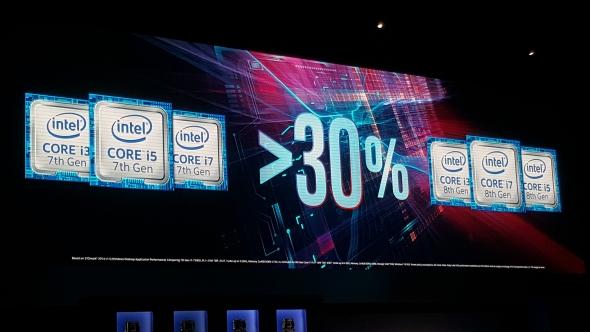 Intel 8th gen core 30 percent improvement