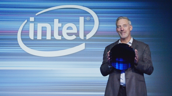 Intel 10nm Cannon Lake wafer