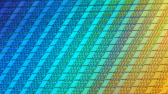 Intel Coffee Lake Wafer