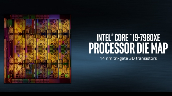 Intel Core i9 7980XE die map