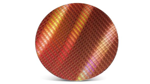 Intel Kaby Lake CPU wafer
