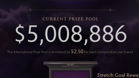 The International 2014 prize pool $5m