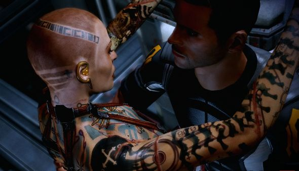 Jack, from Mass Effect 2, was one of the few characters down for a casual fling
