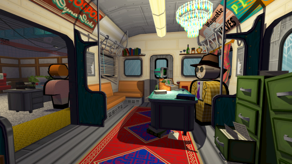Jazzpunk subway coach