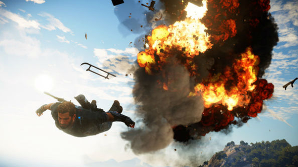 Just cause 3 s sky fortress expansion has a rocket powered weaponised bavarium wingsuit - Military wingsuit ...