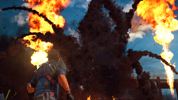 just cause 3 sky fortress how to get back in