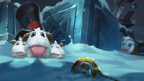 Riot has summoned League of Legends' Poro King and his furry minions