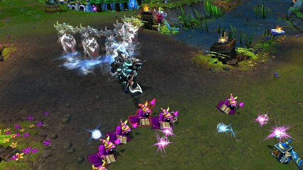 League of Legends battle