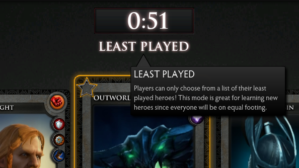 "Dota 2 patch adds ""Least Played"" gamemode"