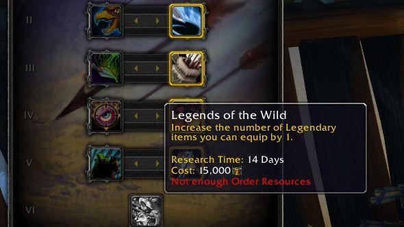 World of Warcraft Legion hall upgrades