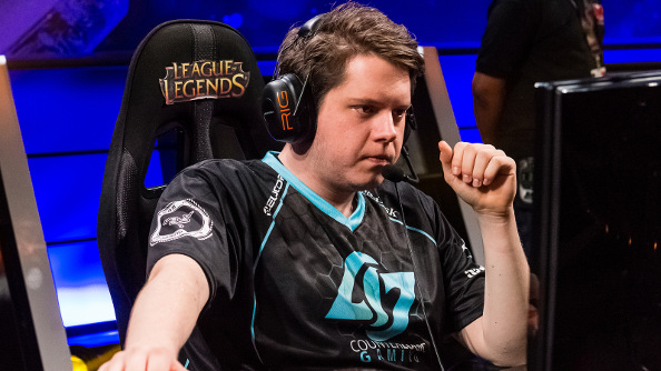 A depressed looking CLG player stares at his monitor.