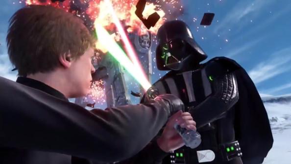 Luke fights Vader