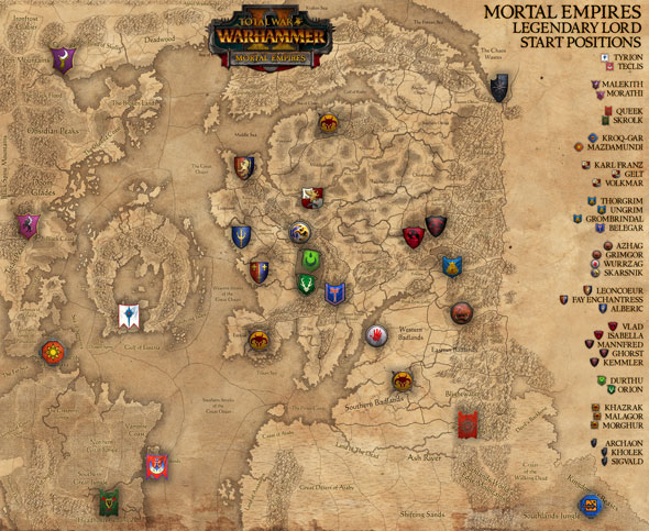 Total War: Warhammer 2 - Mortal Empires factions
