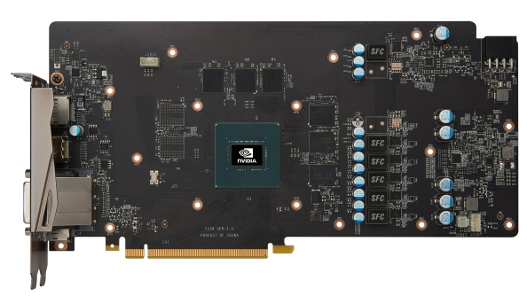 MSI GTX 1060 Gaming X design