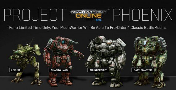mechwarrior online project phoenix