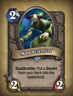 Mad Scientist Hearthstone Card