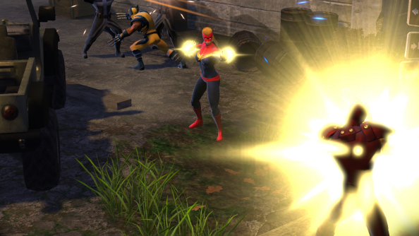 "Marvel Heroes will avoid Diablo 3's real money auction house: ""there's a veil of paying for power there,"" says Brevik"