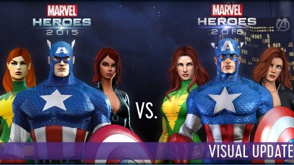 Marvel Heroes 2016 graphic update