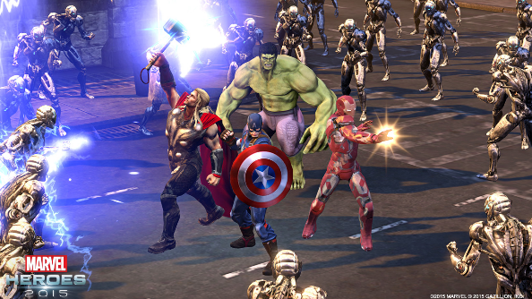 Marvel Heroes Age of Ultron team