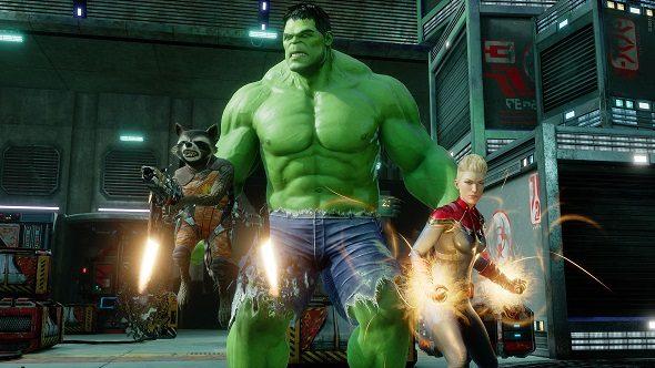 Marvel Powers United VR Hulk Rocket Raccoon Captain Marvel