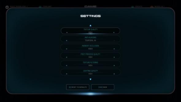 Mass Effect Andromeda PC graphics menu GTX 970
