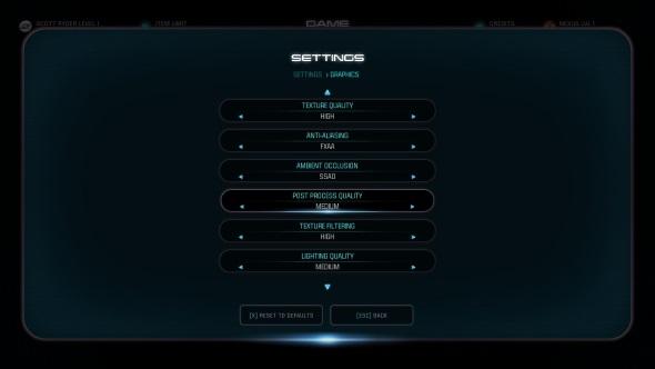 Mass Effect Andromeda PC graphics menu R9 380