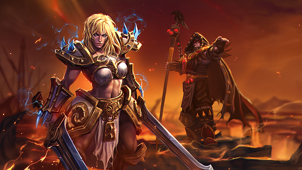 Heroes of the Storm Medivh and Sonya Update Art