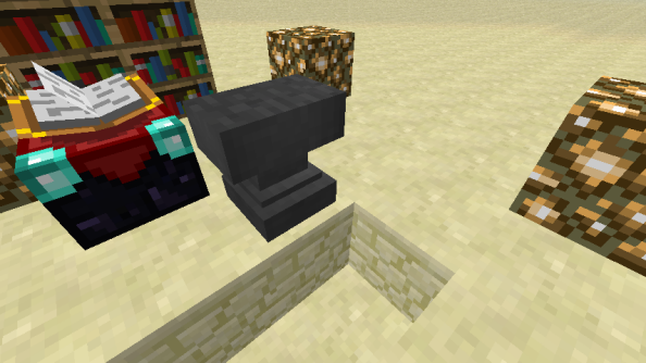 Minecraft introduces anvils: they hurt when they land on you