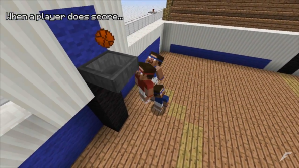 This Minecraft basketball court may just be a work of genius