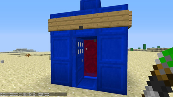Blockier on the inside: here's a semi-functioning Tardis in Minecraft