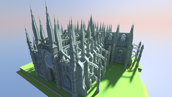Is this two million block cathedral the ultimate Minecraft build?