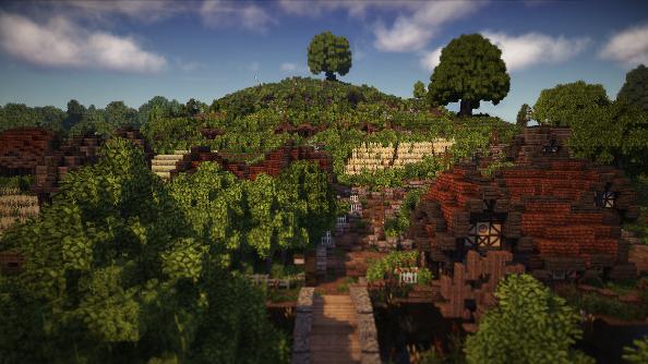 Minecraft LOTR The Shire