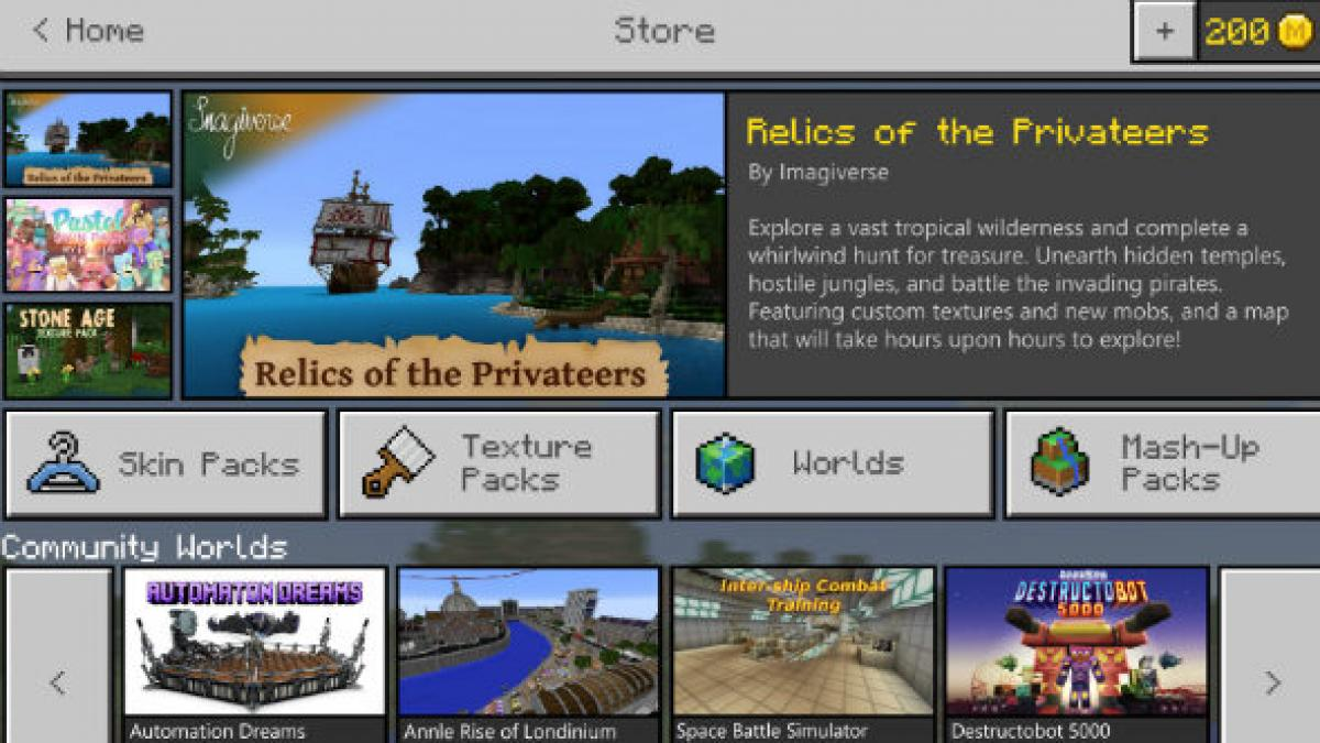Minecraft Marketplace Brings All Those Java Version Mods To Windows 10 Edition For A Price Pcgamesn