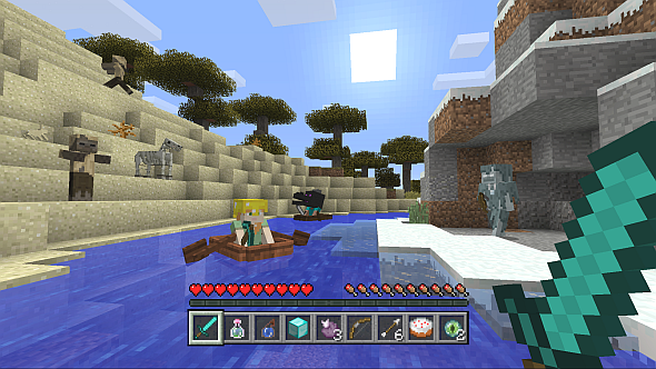 Minecraft is one Microsoft's first games to cross multiple platforms