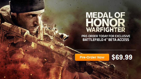 Battlefield 4 sneakily announced via Medal of Honor preorder incentives
