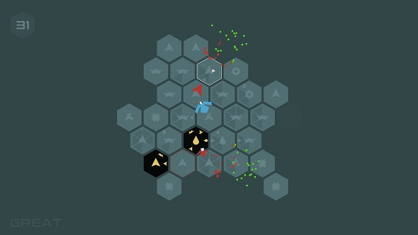 Slice through hordes of bugs in hex based puzzler Morphblade