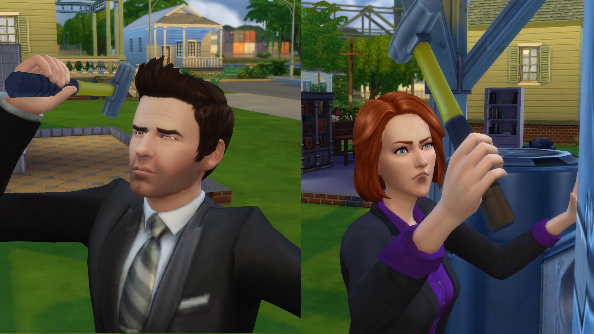 The Sims 4 mulder scully Maxis EA
