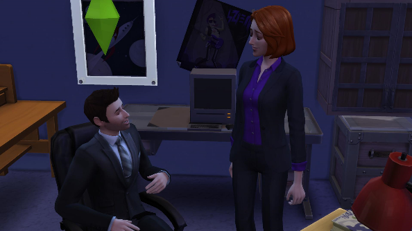 The Sims 4 mulder scully office Maxis EA