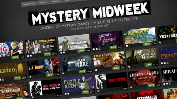 "Valve get mysterious with ""Mystery Midweek"" Steam sale"