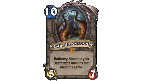 Best Hearthstone Legendary cards N'Zoth, the Corruptor